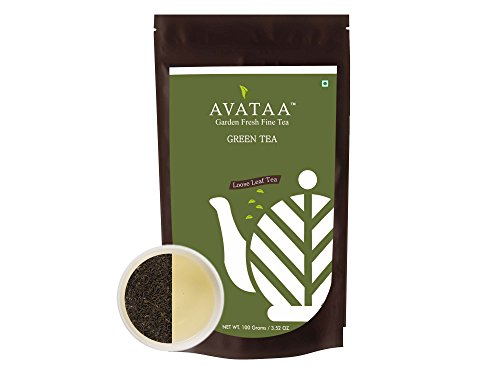 Avataa Green Tea (Super Fine Grade) – Pure Unblended Green Tea From Nilgiris. All Natural, Free From Preservatives, Artificial Flavours and Added Sugars. Loose Leaf Tea (100 Grams/3.5 Oz/50(Green Tea) For Sale