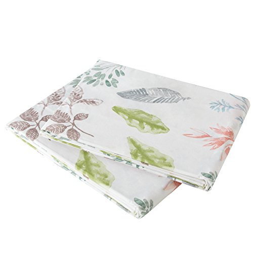 Brielle Gardenia 100% Cotton Printed Sheet Set, Queen, 6 Piece Set