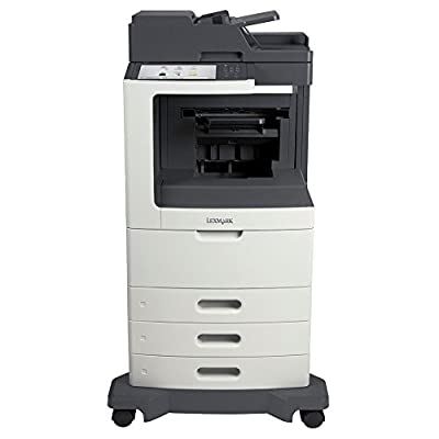 Lexmark 24TT409 MX810DTE Laser Multifunction Printer - Monochrome - Plain Paper Print - Desktop - Copier/Fax/Printer/Scanner - 55 ppm Mono Print - 1200 x 1200 dpi Print - 55 cpm Mono Copy - Touchscreen - 600 dpi Optical Scan - Automatic Duplex Print - 175