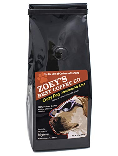 Fun Coffee - Dog Lover Coffee Lover Delicious Fun and Humorous Fresh Roasted Ground Coffees, 12 Ounce (Crazy Dog Jamaican Me Loco) Fresh Roasted and Delicious