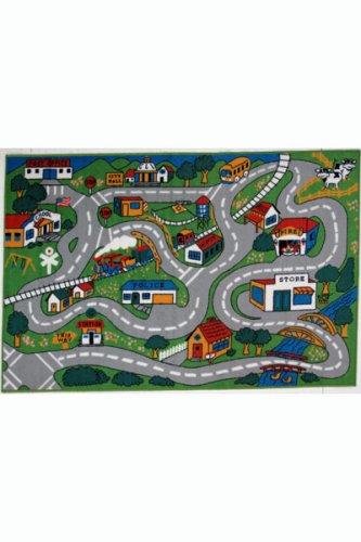 Fun Time Country Fun Kids Road Rug Size: 4'3