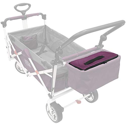 Creative Outdoor Zippered Cooler Food Storage Bag for Push Pull Wagons | Accessory | Purple