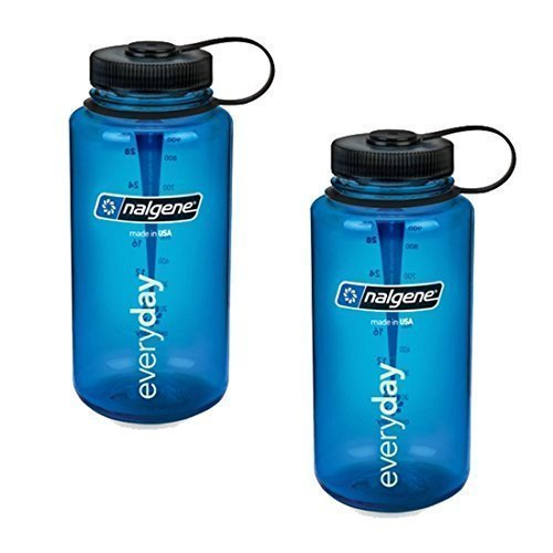 Nalgene 32oz Wide Mouth Everyday Water Bottle - 2 Pack (Blue)