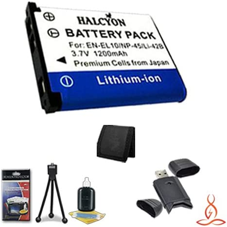 Deluxe Starter Kit for Fujifilm FinePix T300 14MP Digital Camera and Fujifilm NP-45A SDHC Card USB Reader Halcyon 1200 mAH Lithium Ion Replacement NP-45A Battery and Charger Kit Memory Card Wallet