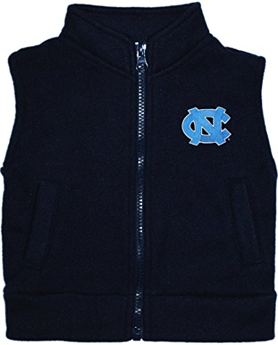 University of North Carolina Tar Heels Newborn Baby Polar Fleece Vest Navy]()