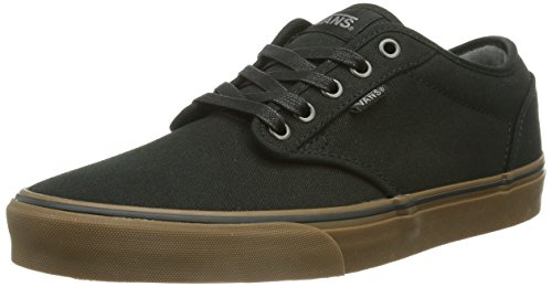 VANS Mens Atwood Canvas Skate Shoes - Size: 8, Black/gum