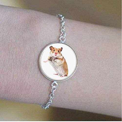 (Hamster Bracelet,a Small Furry Animal which is Similar to a Mouse Glass Photo pet)
