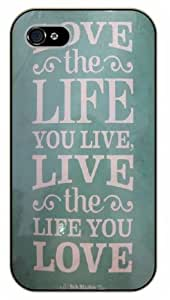 iPhone 5 / 5s Bob Marley Quotes - Love the life you live, live the life you love - black plastic case / Inspirational and Motivational