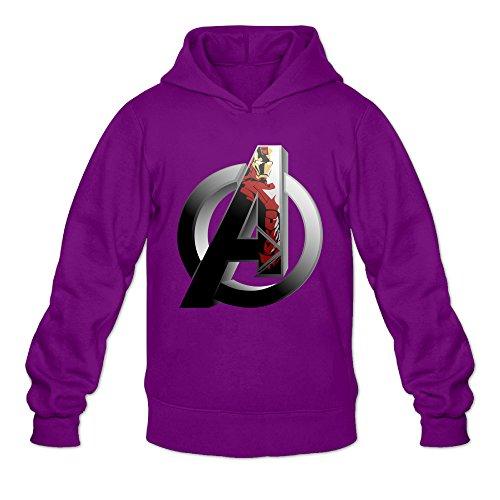 Fennessy Men's Hoodie A Letter Logo Poster Size XL Purple -