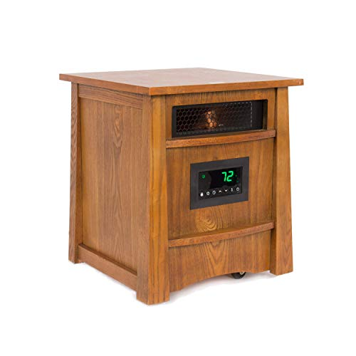 Lifesmart Corp Lifelux Series Ultimate 8 Element Extra Large Room Infrared Deluxe Wood Cabinet &...