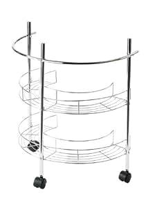 Premier Housewares - Carrito con ruedas para colocar debajo del lavabo (2 estantes), cromo