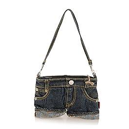 Micrkrowen Stylish Lightweight Denim Bag ( Black )