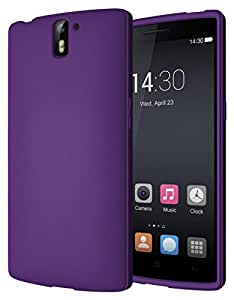 Diztronic Full Matte Flexible TPU Case for OnePlus One - Retail Packaging - Purple