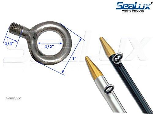 Sealux marine stainless steel threaded eye bolt rings for