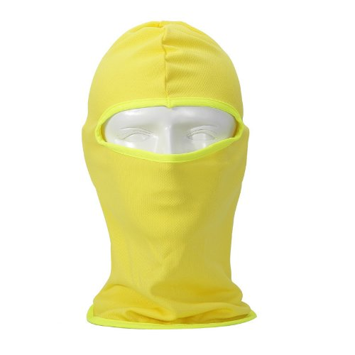 Ski Bicycle (NewNow Candy Color Ultra Thin Ski Face Mask Under A Bike / Football Helmet -Balaclava (Yellow))