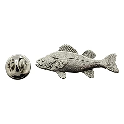 Discount Yellow Perch Pin ~ Antiqued Pewter ~ Lapel Pin ~ Sarah's Treats & Treasures