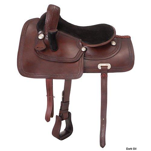 Royal King Basket Tooled Border Side Saddle
