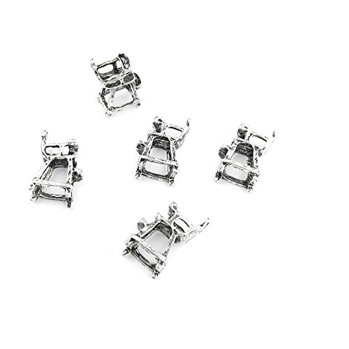 Price per Lot 400 PCS Jewelry Making Charms Antique Silver Tone Color Jewellery Charme Findingss Bulk Wholesale Suppliers Arts Crafts 115DU Umpire Chair ()