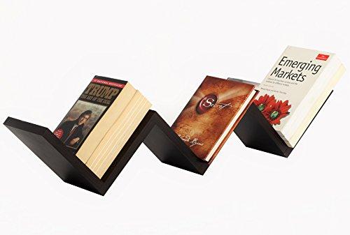 Bluewud Aaron Wall Decor Book Shelf / Wall Display Rack (Wenge) SB-AA-WB