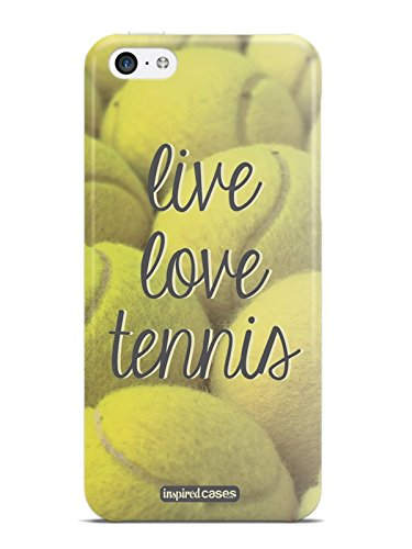 Inspired Cases 3D Textured Live Love Tennis Case for iPhone 5c (Tennis Cases For Iphone 5c)