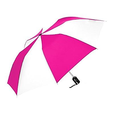 good ShedRain Auto Open Compact Umbrella: Hot Pink & White