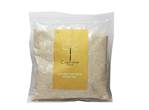 Conscious Food Wheat Semolina - Sprouted Suji 500 gm by CONSCIOUS FOOD