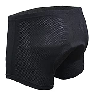 Bike Shorts 3D Padded Bike Underwear Shorts Breathable,Lightweight,Men and Women for Mountain Bike MTB Cycle Road Bike BMX Motorcycle (US S/Asian M,Orange)