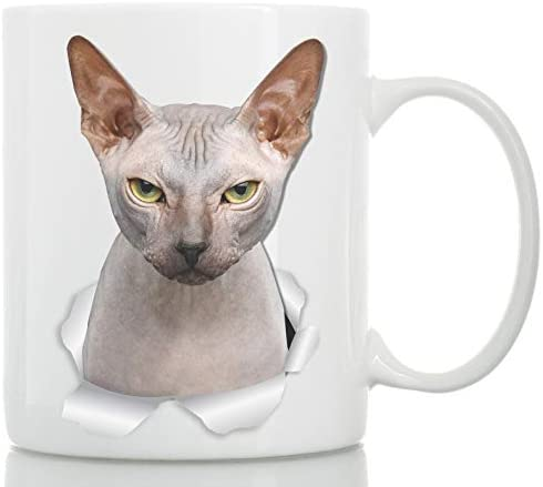 Grumpy Sphynx Cat Mug - Canadian Sphynx Cat Ceramic Coffee Mug - Perfect Sphynx Cat Gifts - Funny Sphynx Cat Coffee Mug for Cat Lovers (11oz) 19