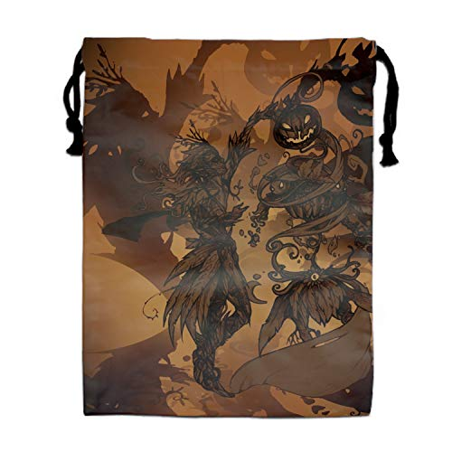 Halloween Drawing Contest Drawstring Bag for Girls Print Backpack Travel Gym Bags -