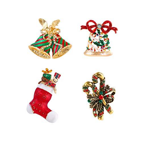 DANXYN Christmas Pins and Brooches for Women Men Boys Girls Christmas Xmas Pins Set Vintage Fashion Cute Elegant