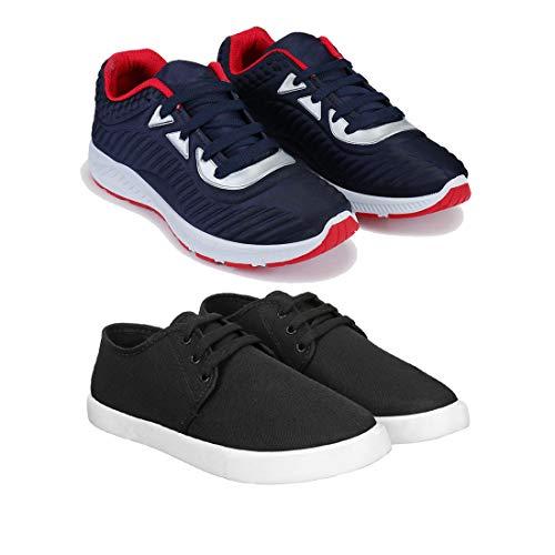 Bersache Men #39;s Multicolor Running Shoes  COMBO 1083+349