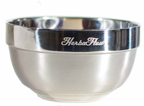 HerbaFlow Insulated Extra Large Stainless Steel Shaving Bowl -newly updated (Best Super Bowl Chili)
