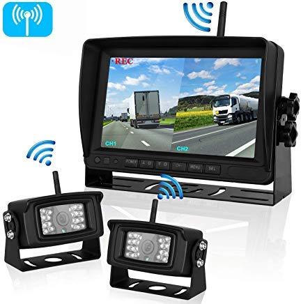 FHD 1080P Digital Wireless 2 Backup Camera for RVs/Trailers/Trucks/Motorhomes/5th Wheels