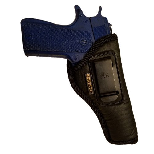 """ECO LEATHER Concealment Holster Inside The Waist With Metal Clip FITS 1911 5 """"& 4 """",BROWNING 9 mm (right) (CHP-57-RH)"""
