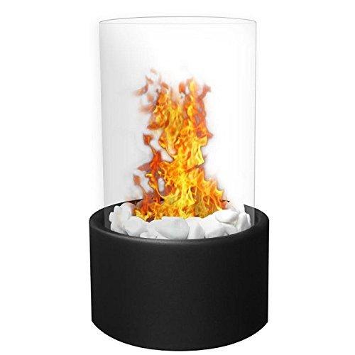 - Moda Flame GF307950BK Ghost Tabletop Firepit Ethanol Fireplace - Black