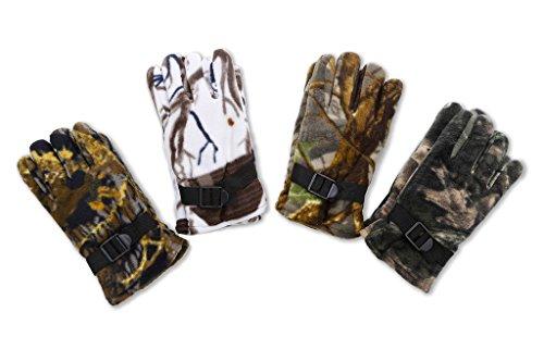Men's Camouflage Heavy Winter Fleece Glove For Hunting 4 ()