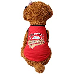 Hot Dog Clothes, Gotd New Pet Puppy Dog Cat Summer Shirt Vest T-Shirt Clothes (S, Red)