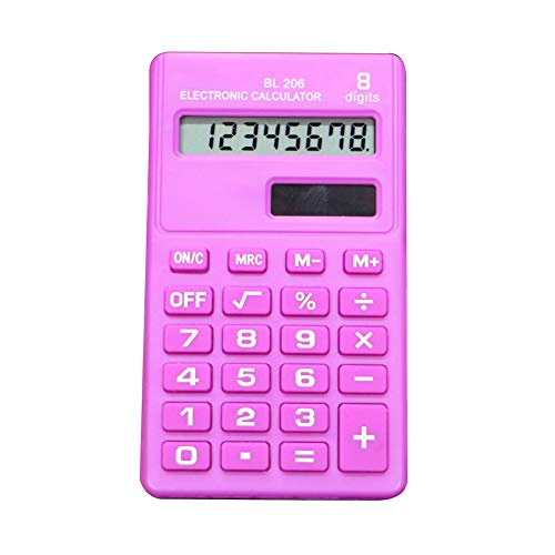 Lsgepavilion Mini Candy Color 8 Digits Pocket Electronic Calculator School Students Office Supplies – Pink