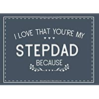 I Love That You're My Stepdad Because: Prompted Fill In The Blank Book