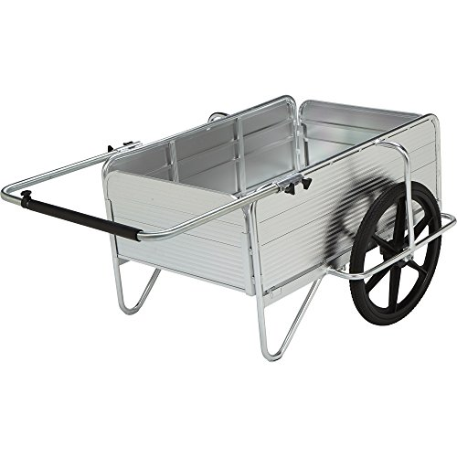 Strongway Aluminum Yard Cart - 36.6in.L x 48.8in.W, 330-Lb., 5.72 Cu. Ft. Capacity