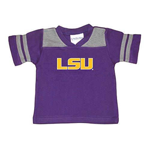 - Two Feet Ahead NCAA LSU Tigers Toddler Boys Football Shirt, Purple, 4