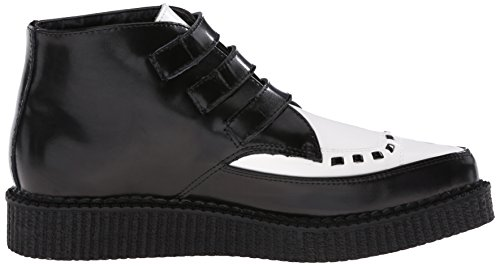 Creeper Up White Shoes Buckle k T Boots Black u Pointed Leather amp; Xpvgq8x