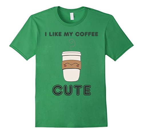 Mens Pinnacle Wear Cute Coffee Cup Graphic T-Shirt Medium Grass (Pinnacle Grass Green)