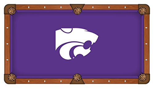 Holland Bar Stool Co. Kansas State Wildcats HBS Purple with White Logo Billiard Pool Table Cloth (7')