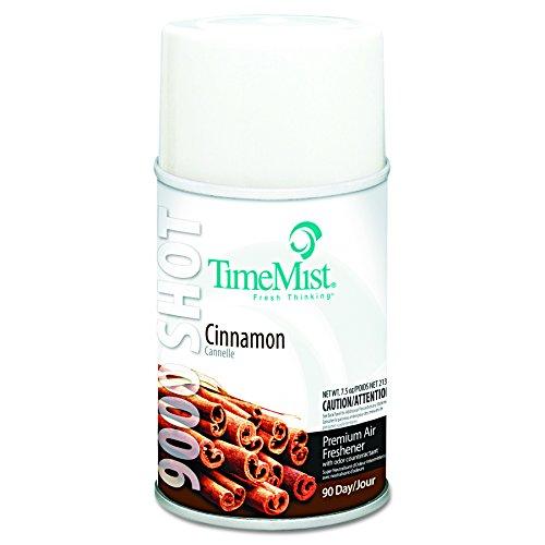 TimeMist 1042639 9000 Shot Metered Air Fresheners, Cinnamon, 7.5 oz Aerosol (Case of ()