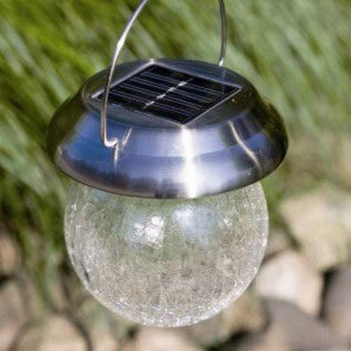 Luxform Artigas Garden Outdoor Solar Lights Glass Decoration Ball Post Light