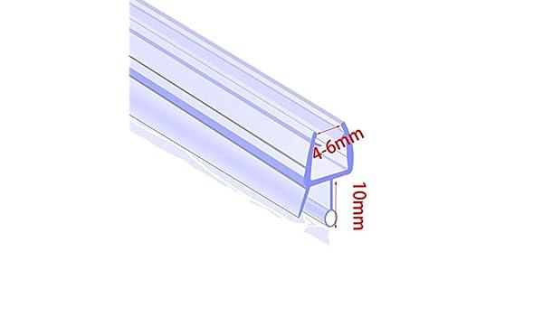 Tira de goma para mampara de ducha, 4 mm – 6 mm, curvado/plano, puerta de baño, 10 mm: Amazon.es: Bricolaje y herramientas