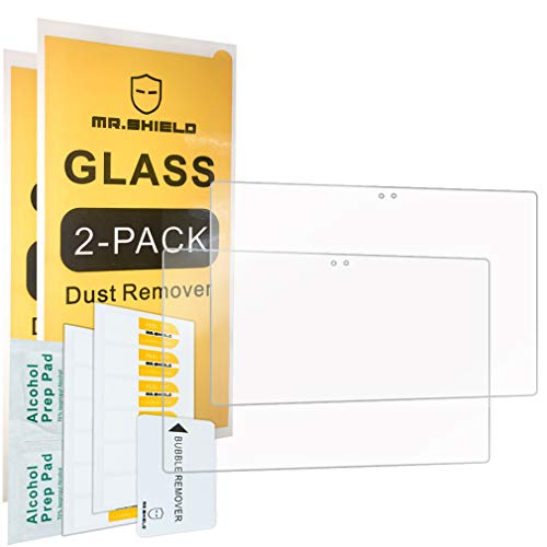 [2-Pack]-Mr.Shield for Lenovo Moto Tab [Tempered Glass] Screen Protector [0.3mm Ultra Thin 9H Hardness 2.5D Round Edge] with Lifetime Replacement