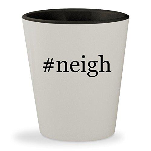 #neigh - Hashtag White Outer & Black Inner Ceramic 1.5oz Shot Glass