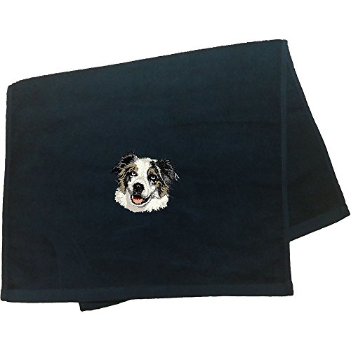 (Cherrybrook Dog Breed Embroidered Anvil Hand Towel - Black - Australian)